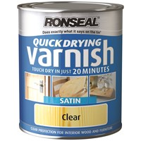 Ronseal  Quick Drying Varnish Satin - 250ml