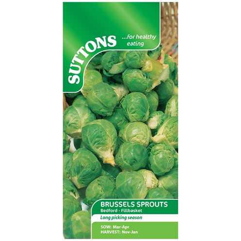Suttons  Brussels Sprouts Bedford Vegetable Seeds