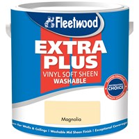 Fleetwood Extra Plus Vinyl Soft Sheen Magnolia Paint - 2.5 Litre