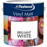 Fleetwood Colour for You Vinyl Matt Brilliant White Paint - 2.5 Litre