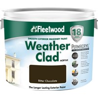 Fleetwood Weather Clad Smooth Masonry Paint Colours - 10 Litre