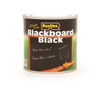 Rustins  Quick Dry Blackboard Paint Black - 250ml