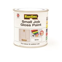 Rustins  Small Job Gloss Paint White - 250ml