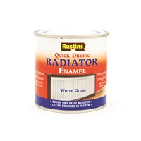 Rustins  Quick Dry White Radiator Paint Gloss - 250ml