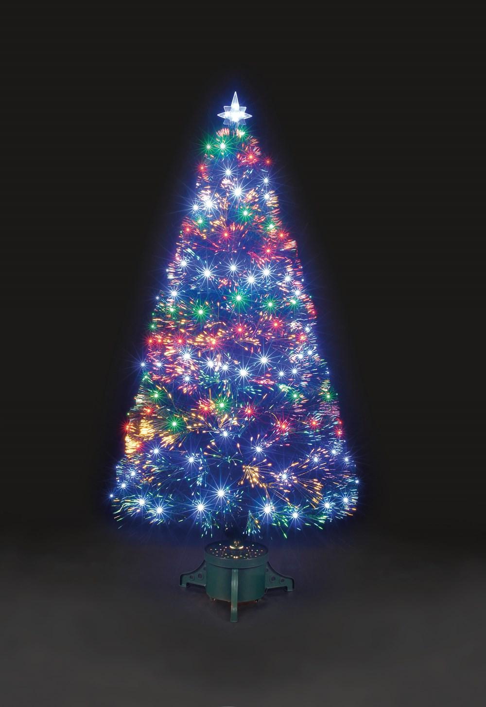Snowtime Multi Coloured Led Fibre Optic Christmas Tree 150cm
