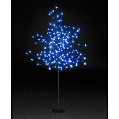 Snowtime  Blue LED Cherry Blossom Tree - 1.5m
