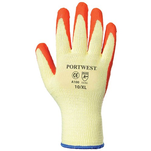 Portwest  Grip Glove in Bag - Yellow & Orange