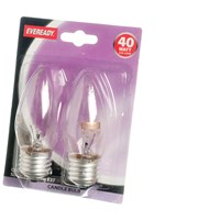Eveready  Incandescent Clear Candle Light Bulb 40W ES - 2 Pack