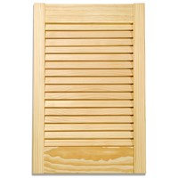 Applications  Pine Louvre Kitchen Cabinet Door - 36in