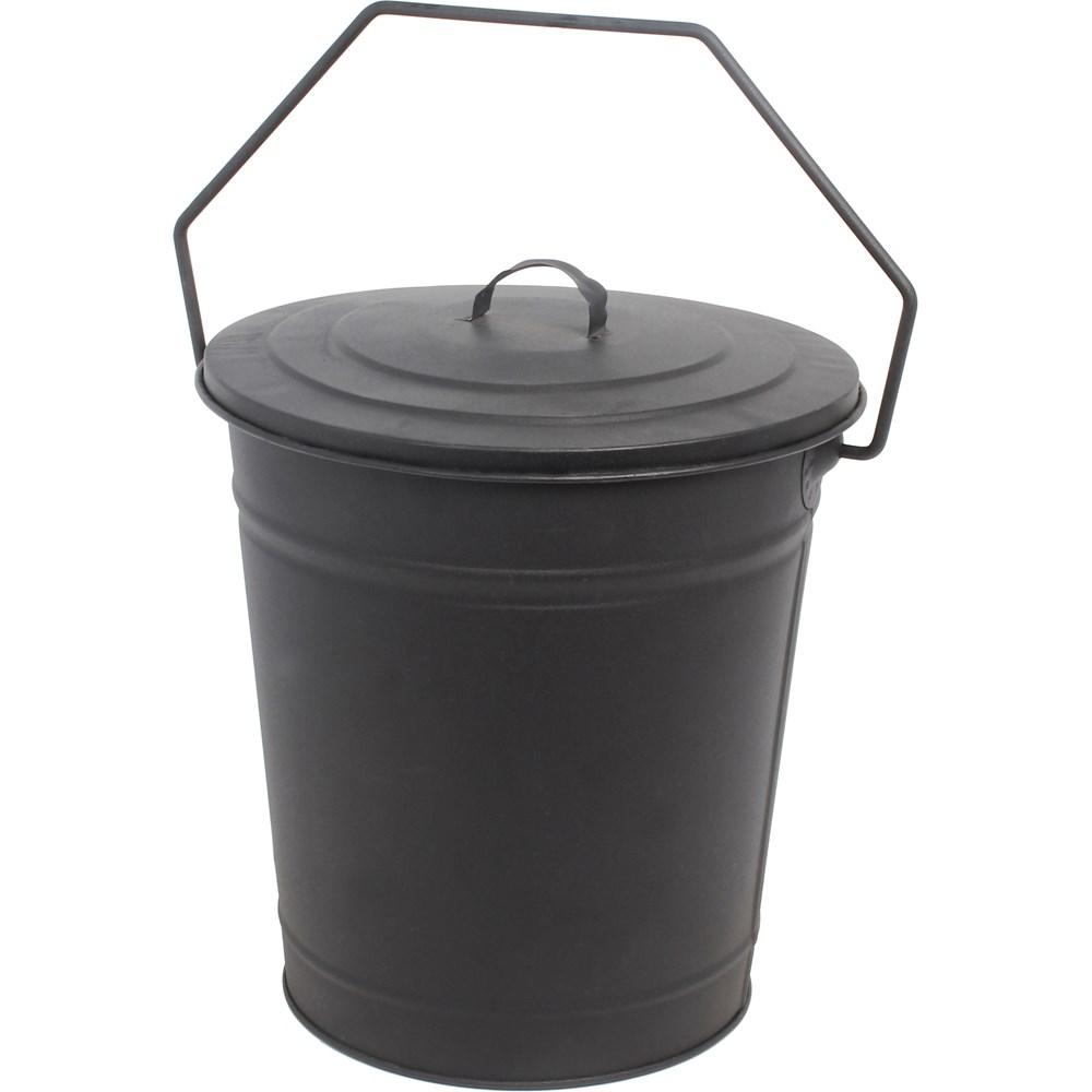 De Vielle Metal Coal Tub & Lid   Buckets & Hods   Topline Brownes