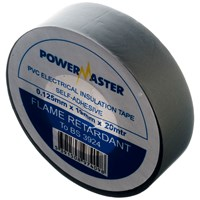 Powermaster  20m PVC Insulating Tape - Grey